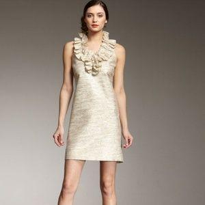 Kate Spade Metallic Lucille Ruffle Front Dress